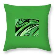 Wild Green Throw Pillow
