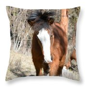Wild Hair Throw Pillow
