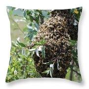 Wild Honey Bees Throw Pillow