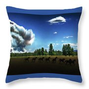 Wild Horse Fire Throw Pillow