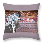 Wild Horses For Sale Throw Pillow