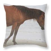 Wild Horses On The Beach 2 Throw Pillow