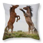 Wild Horse Challenge Throw Pillow
