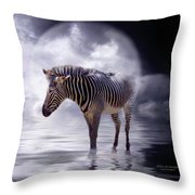 Wild In The Moonlight Throw Pillow