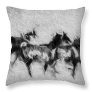 Wild In The Storm Throw Pillow