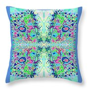 Wild Island Creation 1 Fractal B Throw Pillow