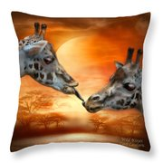 Wild Kisses Throw Pillow