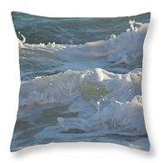Wild Mediterranean Waves Throw Pillow