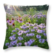 Wild Mints And Coneflowers Throw Pillow