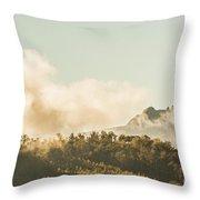 Wild Morning Peak Throw Pillow