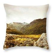 Wild Mountain Terrain Throw Pillow