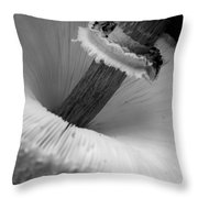 Wild Mushroom- B And W Throw Pillow