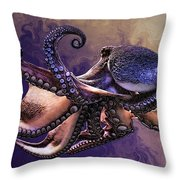 Wild Octopus Throw Pillow