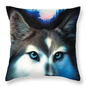 Wild One Throw Pillow by Andrew Farley