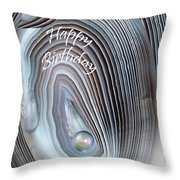 Wild Pearl Birthday Card Throw Pillow