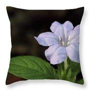 Wild Petunia Throw Pillow