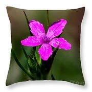 Wild Pink Throw Pillow