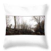 Wild Potomac Poodle Throw Pillow