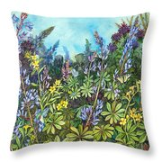 Wild Prairie Lupine Throw Pillow