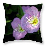 Wild Primrose Throw Pillow