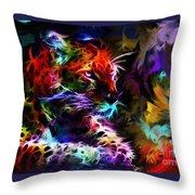 Wild Puma Colors Throw Pillow
