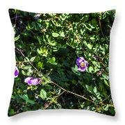 Wild Rose Habitat Throw Pillow