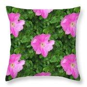 Wild Rose Pattern Throw Pillow