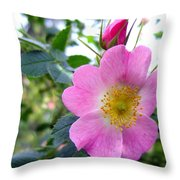 Wild Roses 2 Throw Pillow