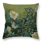 Wild Roses Saint-remy-de-provence, May-june 1889 Vincent Van Gogh 1853 - 1890 Throw Pillow