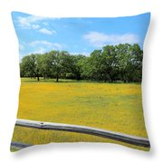 Wild Side Of The Fence Throw Pillow