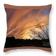 Wild Sky Of Autumn Throw Pillow