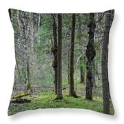 Wild Spring Forest Throw Pillow