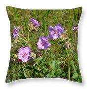 Wild Sticky Geranium Throw Pillow