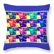 Wild Strawberry In Different Flavors Throw Pillow