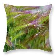 Wild Summer Grass Throw Pillow