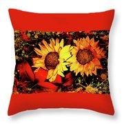 Wild Sunflowers Throw Pillow