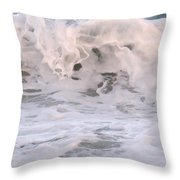 Wild Surf Throw Pillow