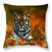 Wild Tigers Throw Pillow