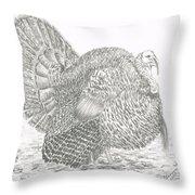 Wild Tom Turkey Throw Pillow