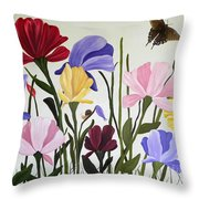 Wild Tulips Throw Pillow