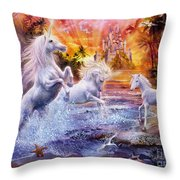 Wild Unicorns Throw Pillow