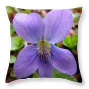 Wild Violet 2 Throw Pillow
