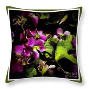 Wild Violets Throw Pillow