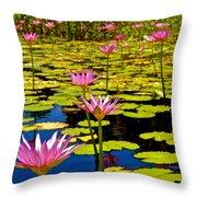 Wild Water Lilies 3 Throw Pillow