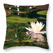 Wild Water Lilly Throw Pillow