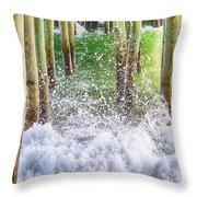 Wild Waves Under The Boardwalk Throw Pillow