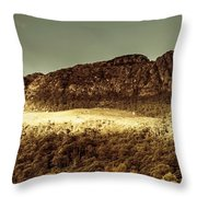 Wild West Mountain Panorama Throw Pillow