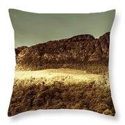 Wild West Mountain Panorama Throw Pillow