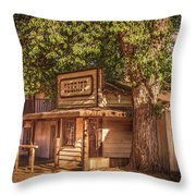 Wild West Sheriff Office Throw Pillow