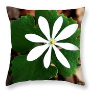 Wild White Throw Pillow